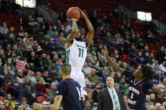 UWGB junior guard JayQuan McCloud had a career-high 26 points on Saturday.