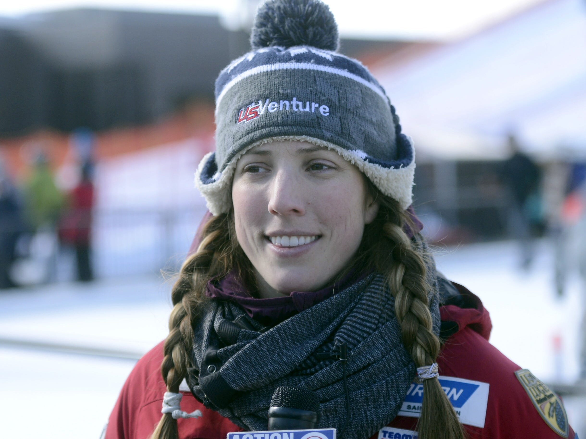 Erin Hamlin, Olympic bronze medalist in luge, talks about the sport at the Titletown Winter Game Saturday, Feb. 16, 2019.