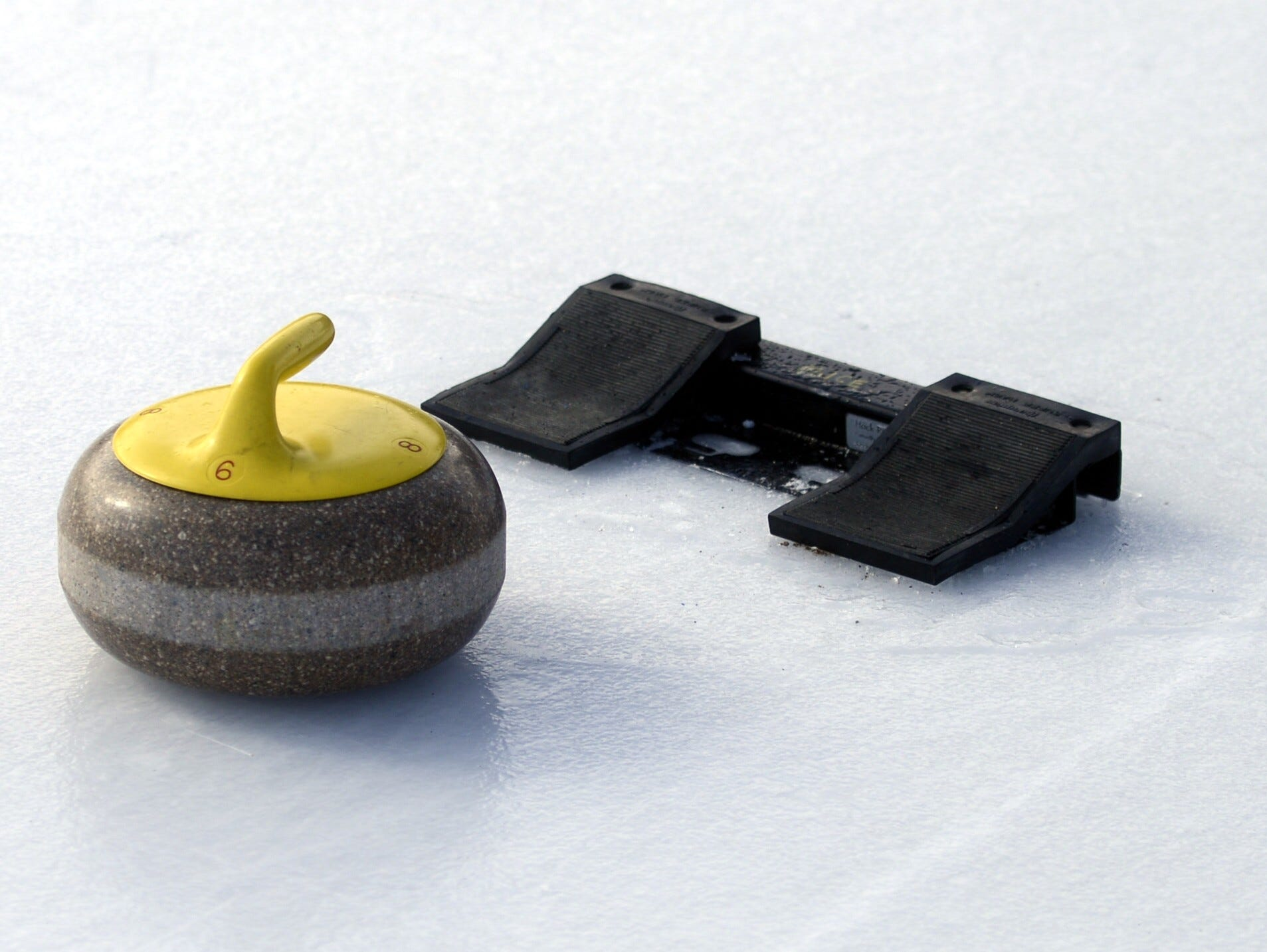 Curling stone at Titletown Winter Games, Saturday, Feb. 16, 2019.