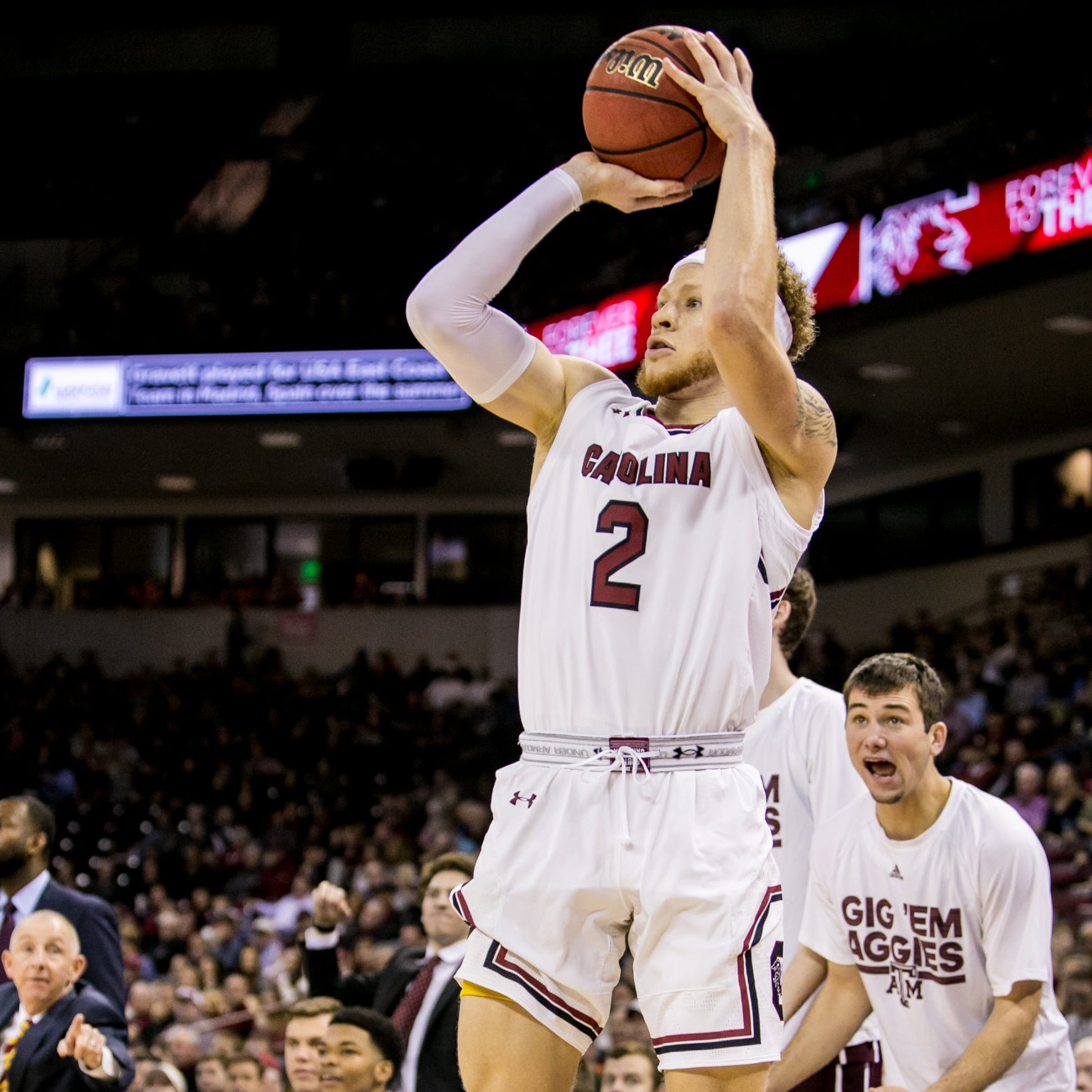 South Carolina ties a school-record for 3-pointers in victory over Texas A&M