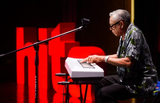 Local jazz pianist Patrick Palomo performs a few songs from his music catalog during a HITA Talk at the Guam Museum on Feb. 16, 2019.