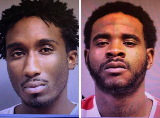 Carlos Sibley, left, and Donaven Harris escaped Friday, Feb. 15, 2019, from Forrest County Jail.