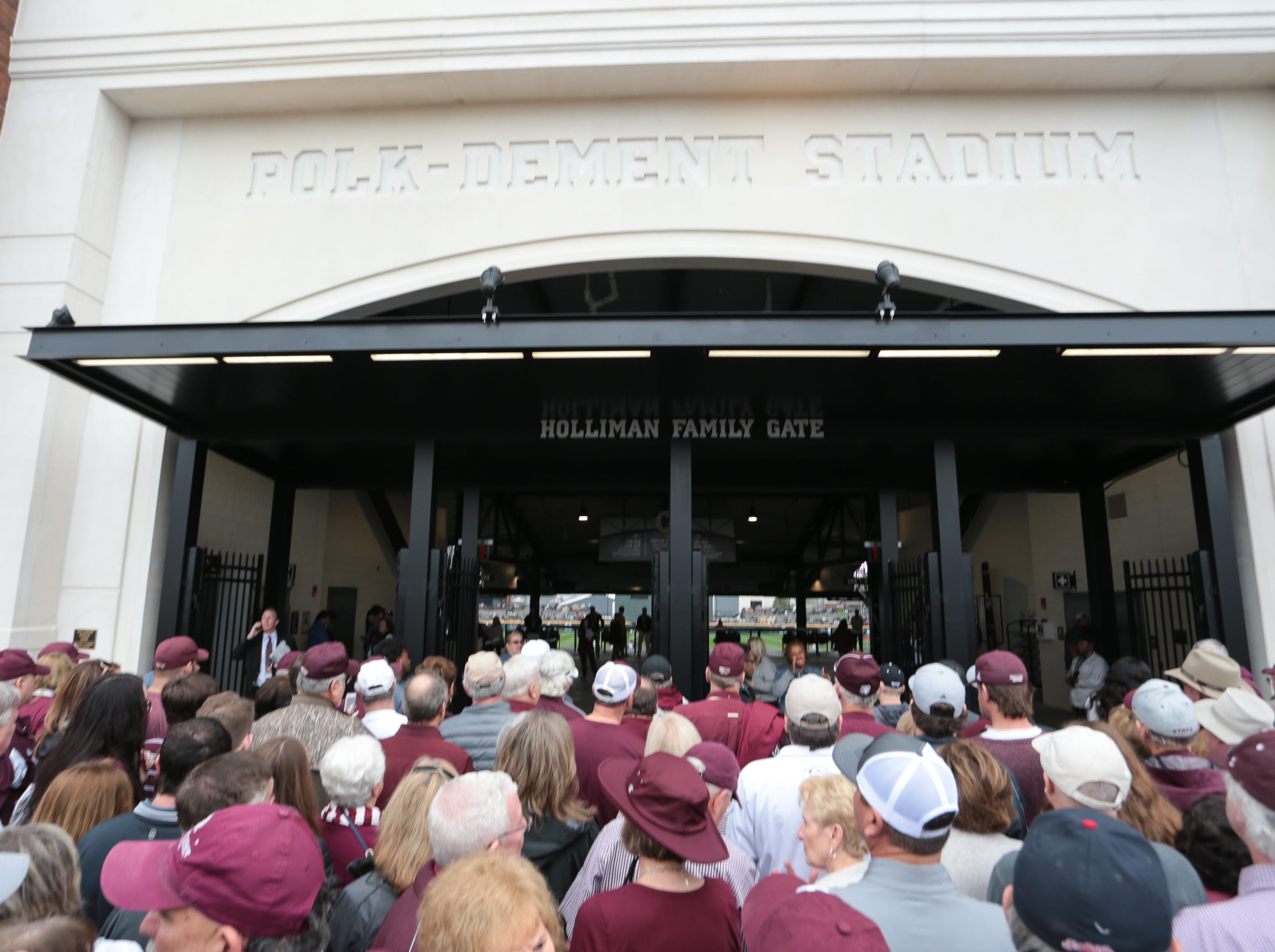 MSU fans enter the gates .Mississippi State opened the 2019 baseball season against Youngstown State on Friday, February 15, 2019. Photo by Keith Warren