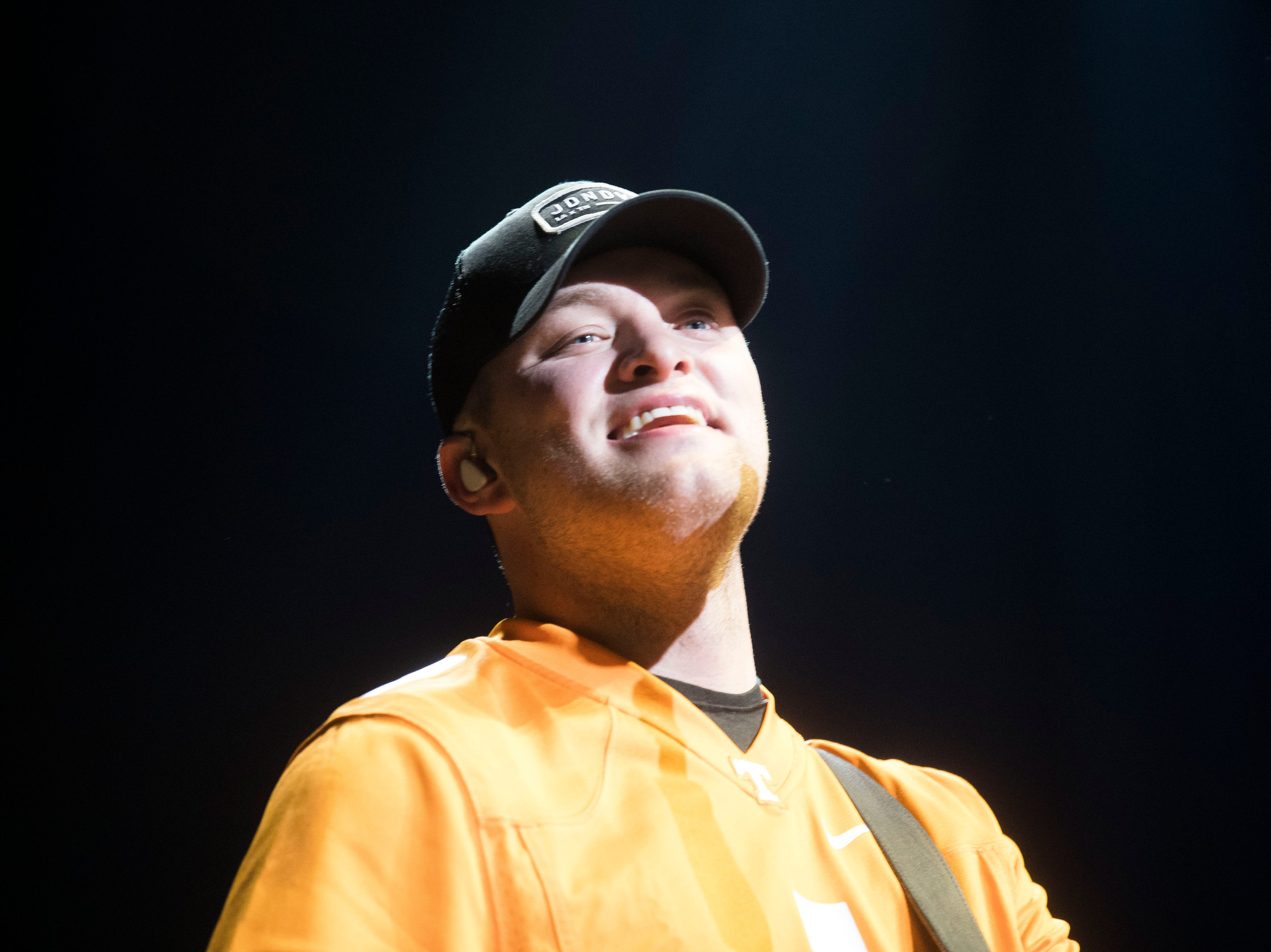 Jordan Walker of Walker McGuire opens for Luke Combs in Thompson-Boling Arena in Knoxville Friday, Feb. 15, 2019.