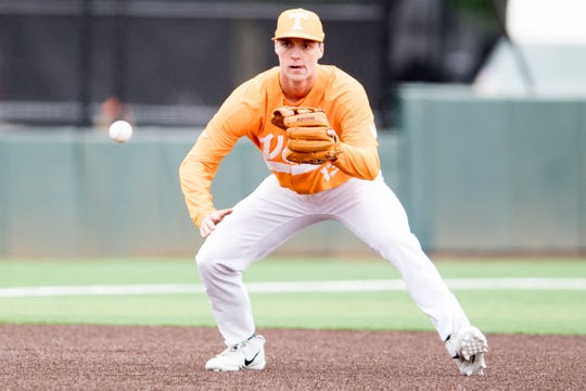 Tennessee infielder Andre Lipcius (13) has played first base, third base and shortstop over his college career.