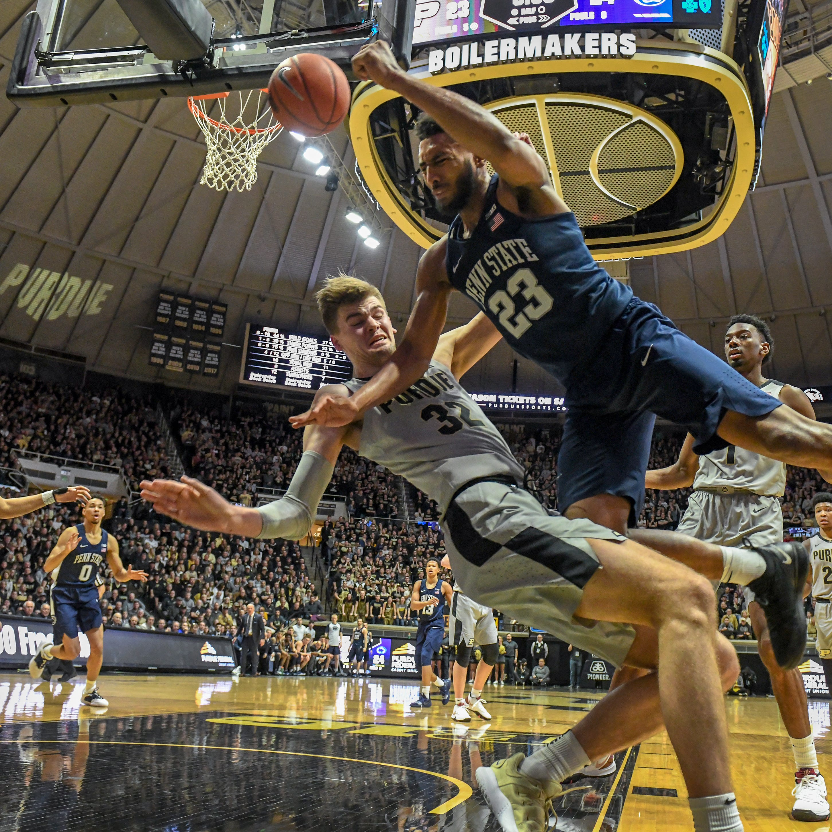 No. 12 Purdue basketball overcomes turnover trouble to beat Penn State