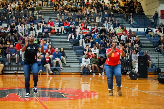 Comeaux High School puts on a school-wide program Friday celebrating Black History Month.
