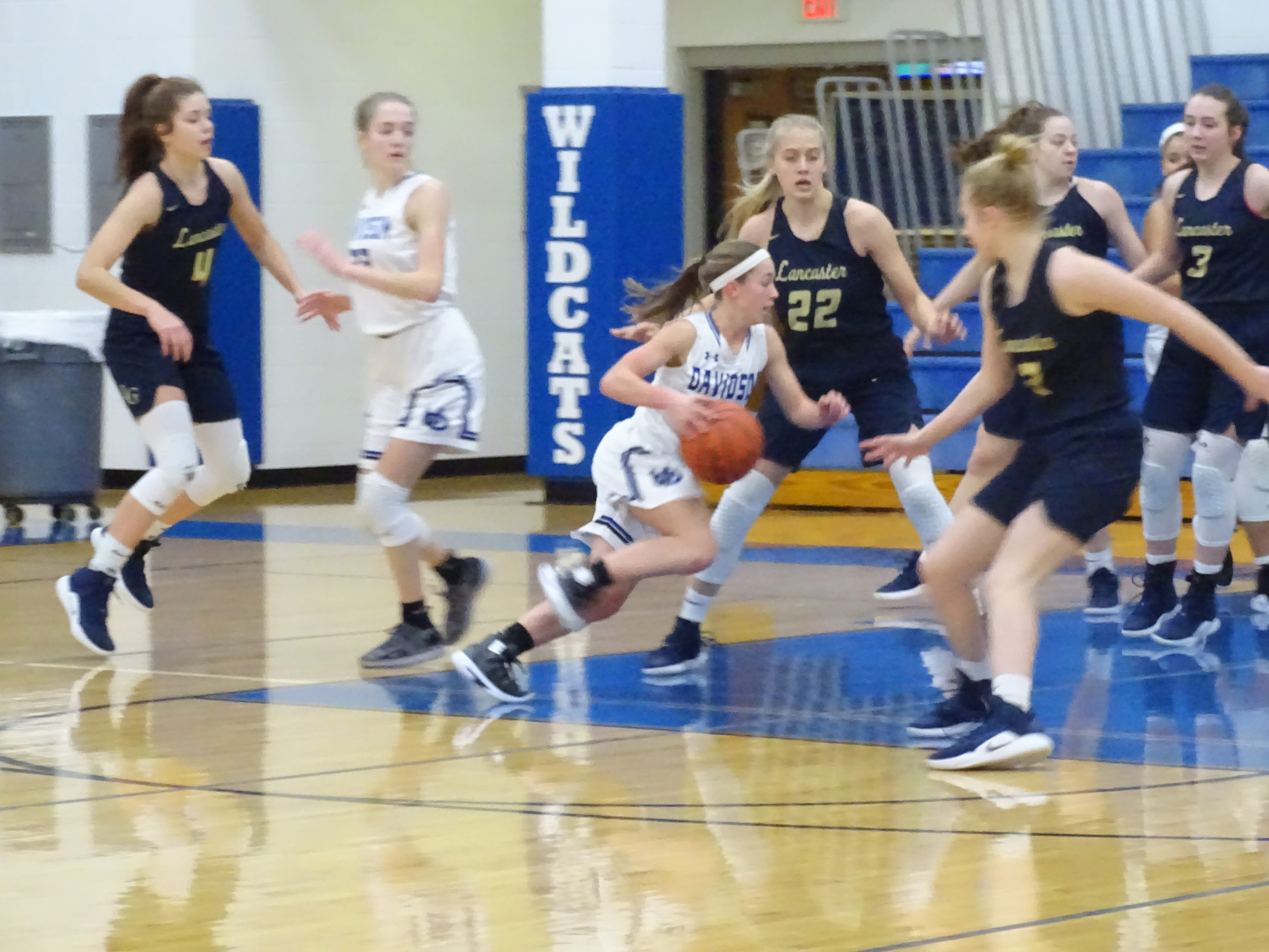 Lancaster fell, 48-30, in its Central District Division I tournament opener to Hilliard Davidson on Saturday.