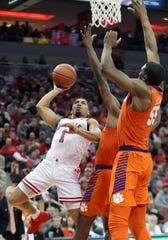 Christen Cunningham goes for a layup vs. Clemson