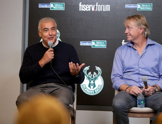 The Bucks have flourished under the leadership of co-owners Marc Lasry (left) and Wes Edens.