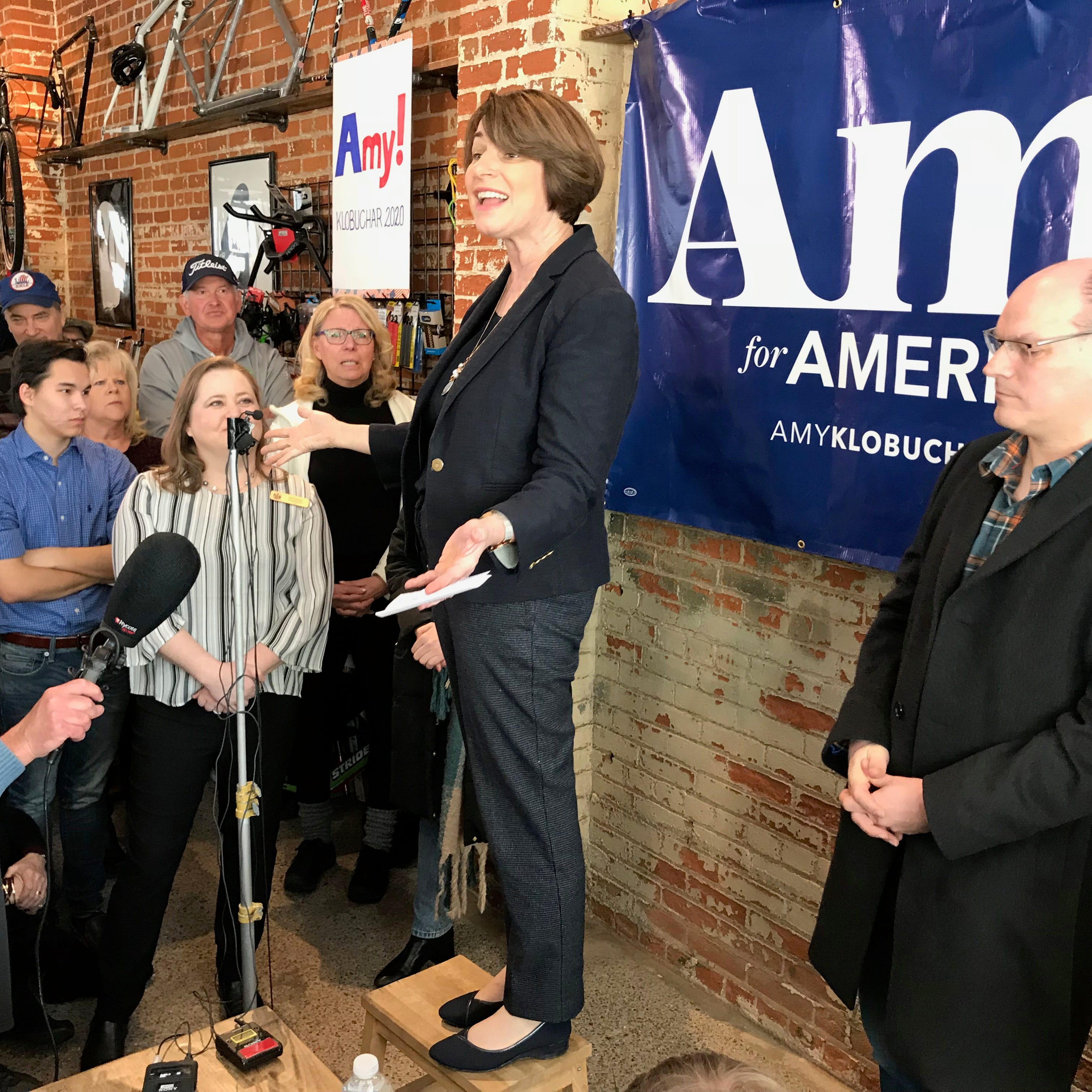 2020 presidential hopeful and 'senator next door' Amy Klobuchar campaigns in Eau Claire