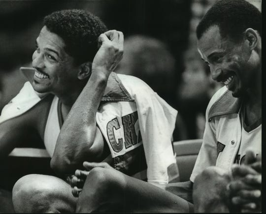 Former Bucks teammates Marques Johnson (left) and Sidney Moncrief  were both named finalists for the Naismith Memorial Basketball Hall of Fame on Friday.