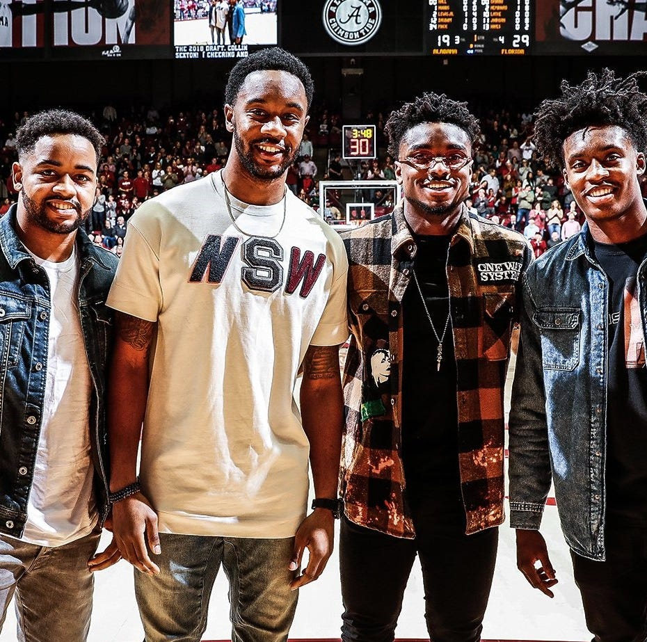 Cleveland Cavaliers' Collin Sexton shows up at Alabama vs. Florida basketball game