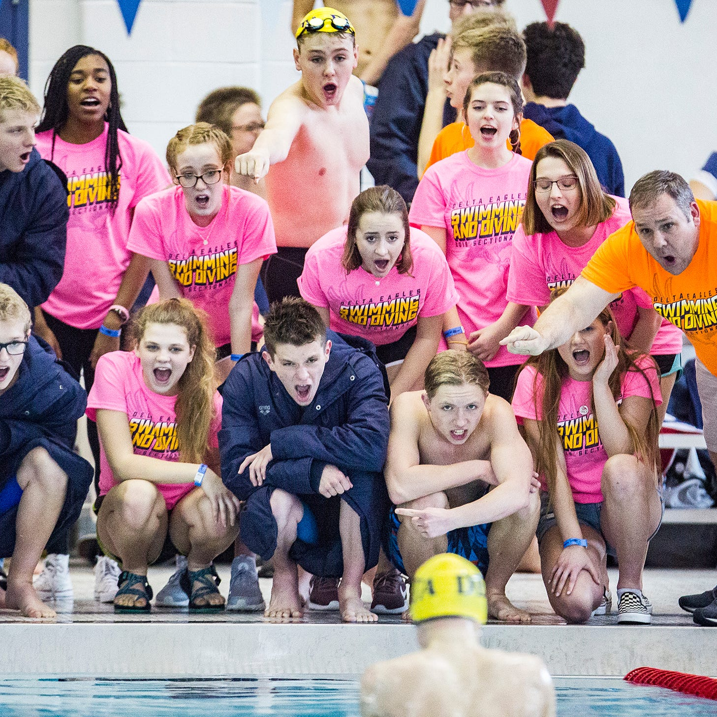 Delta boys swimming wins sixth straight sectional title