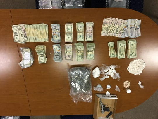 Investigators in Rutherford County seized 7.3 ounces of cocaine, three pounds of marijuana, five grams of methamphetamine, 615 ecstasy pills, 753 Xanax bars, four vehicles, one handgun (reported stolen in Clarksville), and $72,788 cash.