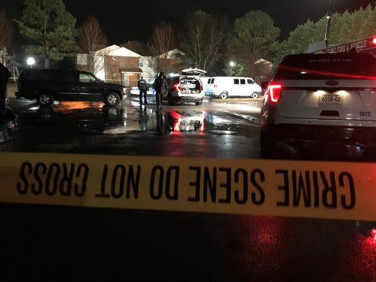 Murfreesboro Police investigate a fatal shooting at Summerlake Apartments off Church Street on Friday evening.