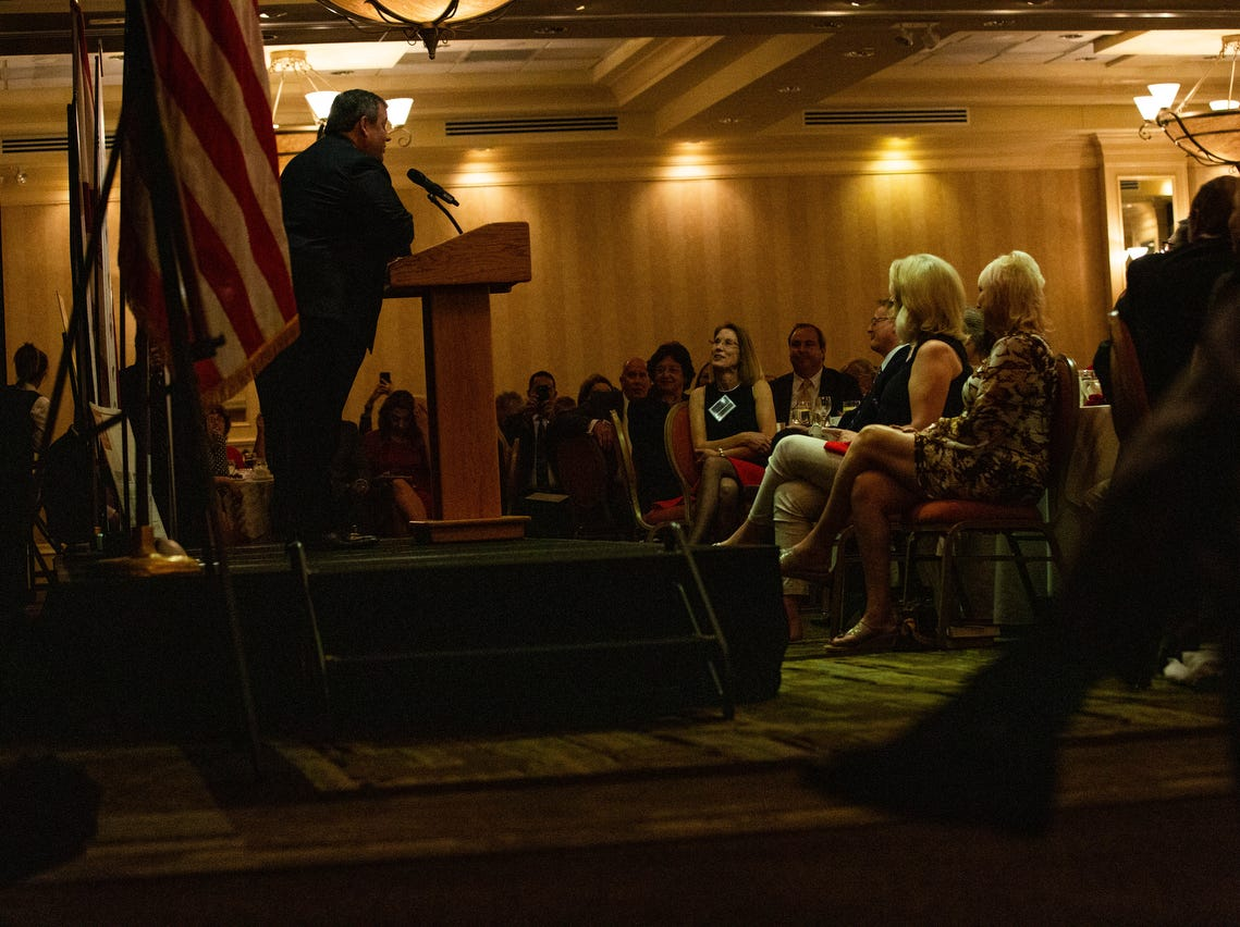 Former governor Chris Christie was the keynote speaker at the annual Collier County Lincoln Reagan Celebration at the Hilton Naples February on 15, 2019.