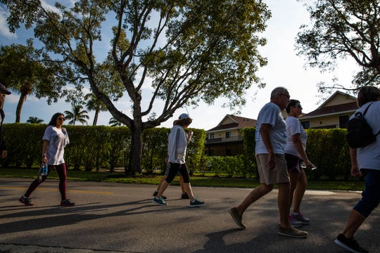 Hundreds gathered for the National Alliance on Mental Illness Collier County walk at Cambier Park in Naples on February 16, 2019.