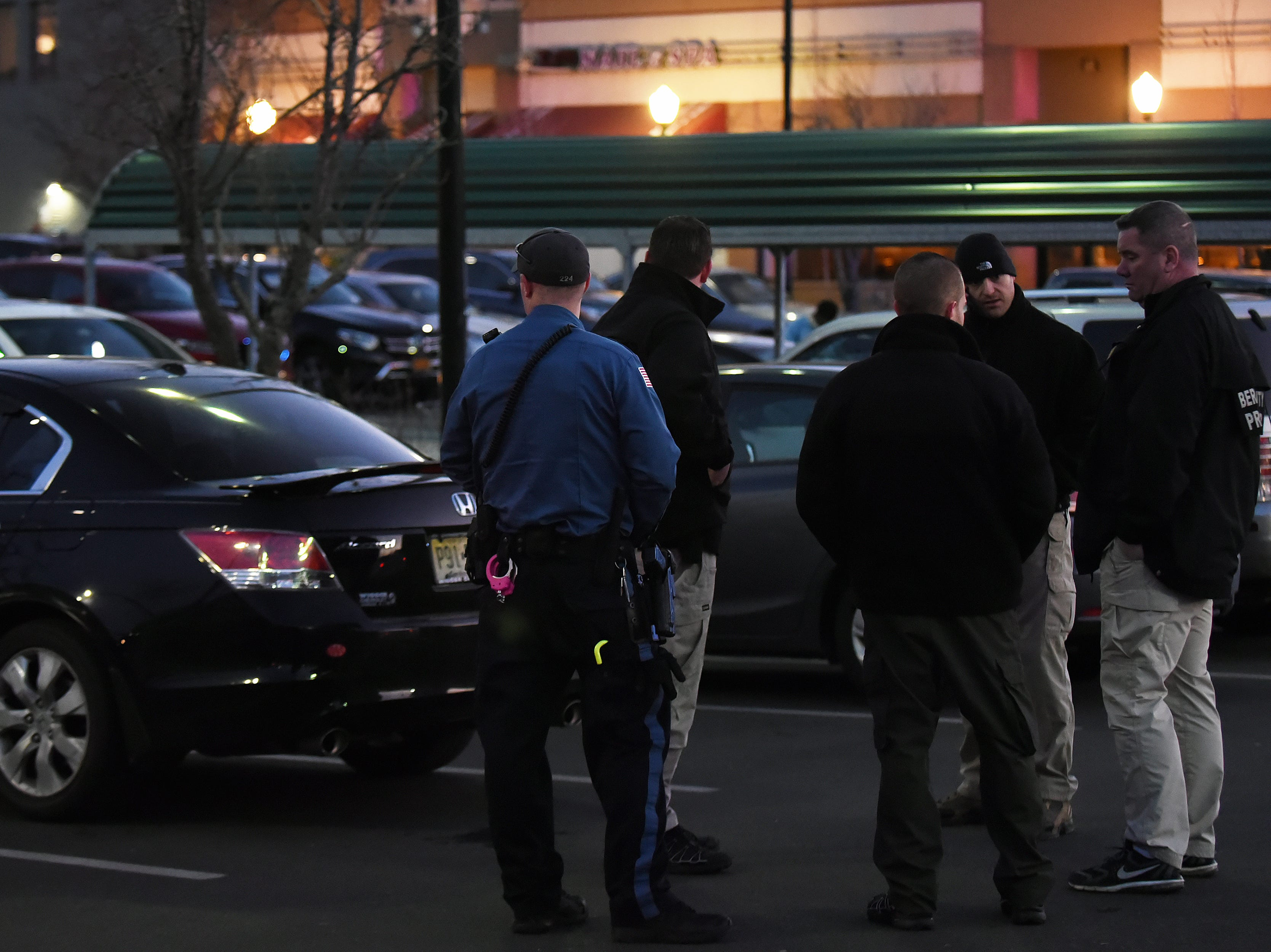 Reports of a double homicide in Englewood on Saturday February 16, 2019. Police at the ShopRite parking lot in Englewood near the victim's car.