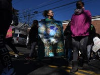 In memory of a December shooting, marchers demonstrate against gun violence in Hackensack