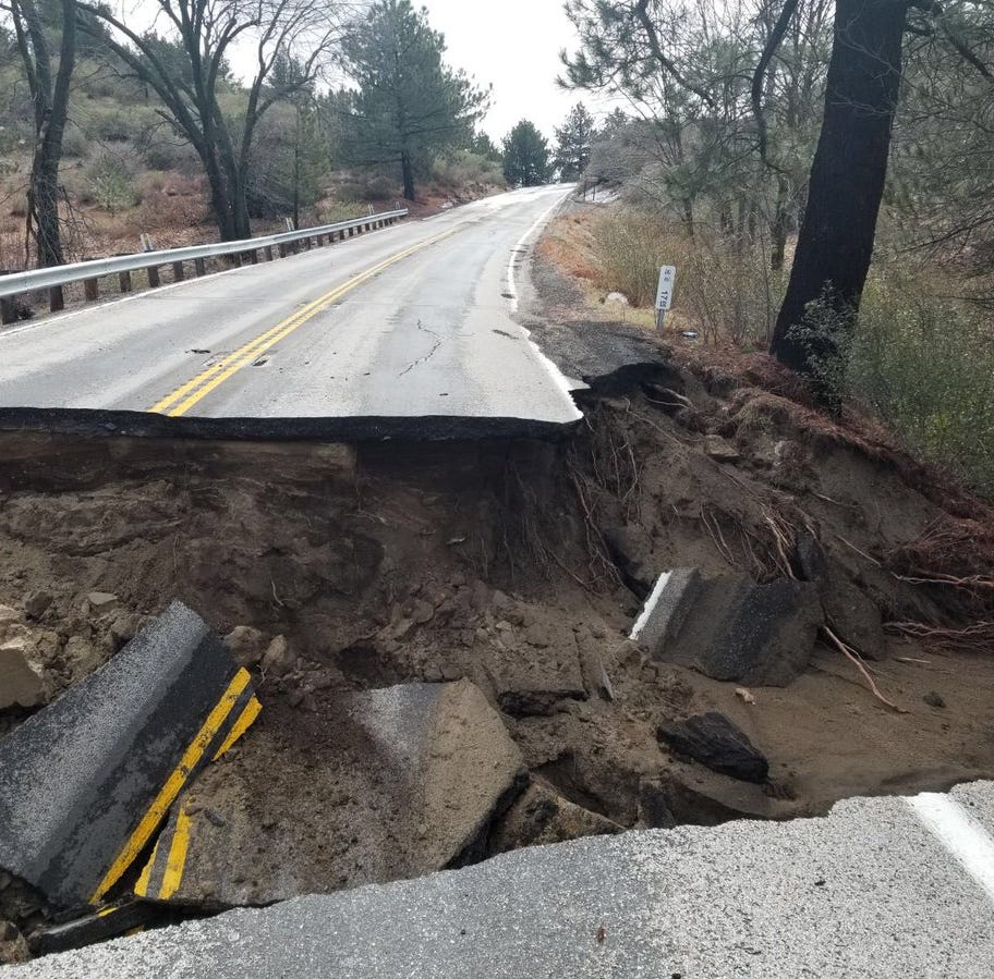 After heavy rain, Highway 243 will be closed at least two months; Cathedral Canyon closed indefinitely
