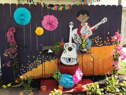 """Karen Cruz, an Indio High School student, made a patio inspired by """"Coco"""" that's on display at the Riverside County Fairgrounds."""
