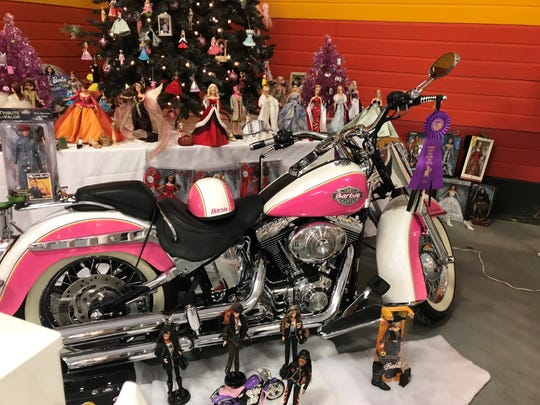 A Barbie collection from Miraya Lisa Daryaie is on display at the Riverside County Fairgrounds.