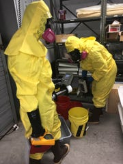 OSHA inspectors visit a Grand Canyon museum building in early 2019 where three buckets were reported to hold uranium.