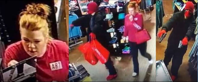 """Police are looking for a male suspect and female """"investigative lead"""" involved in an armed robbery in Mesa"""