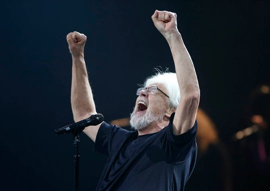 Bob Seger & The Silver Bullet Band perform during their Roll Me Away - Final Tour stop at Talking Stick Resort Arena in Phoenix on Friday, Feb. 15, 2019.