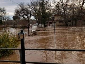 The floods affected areas of Yavapai County, damaging 25 homes.