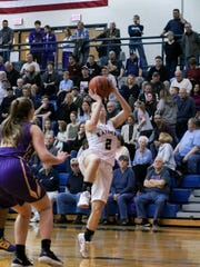 Elco's Katelyn Rueppel goes up for a shot.