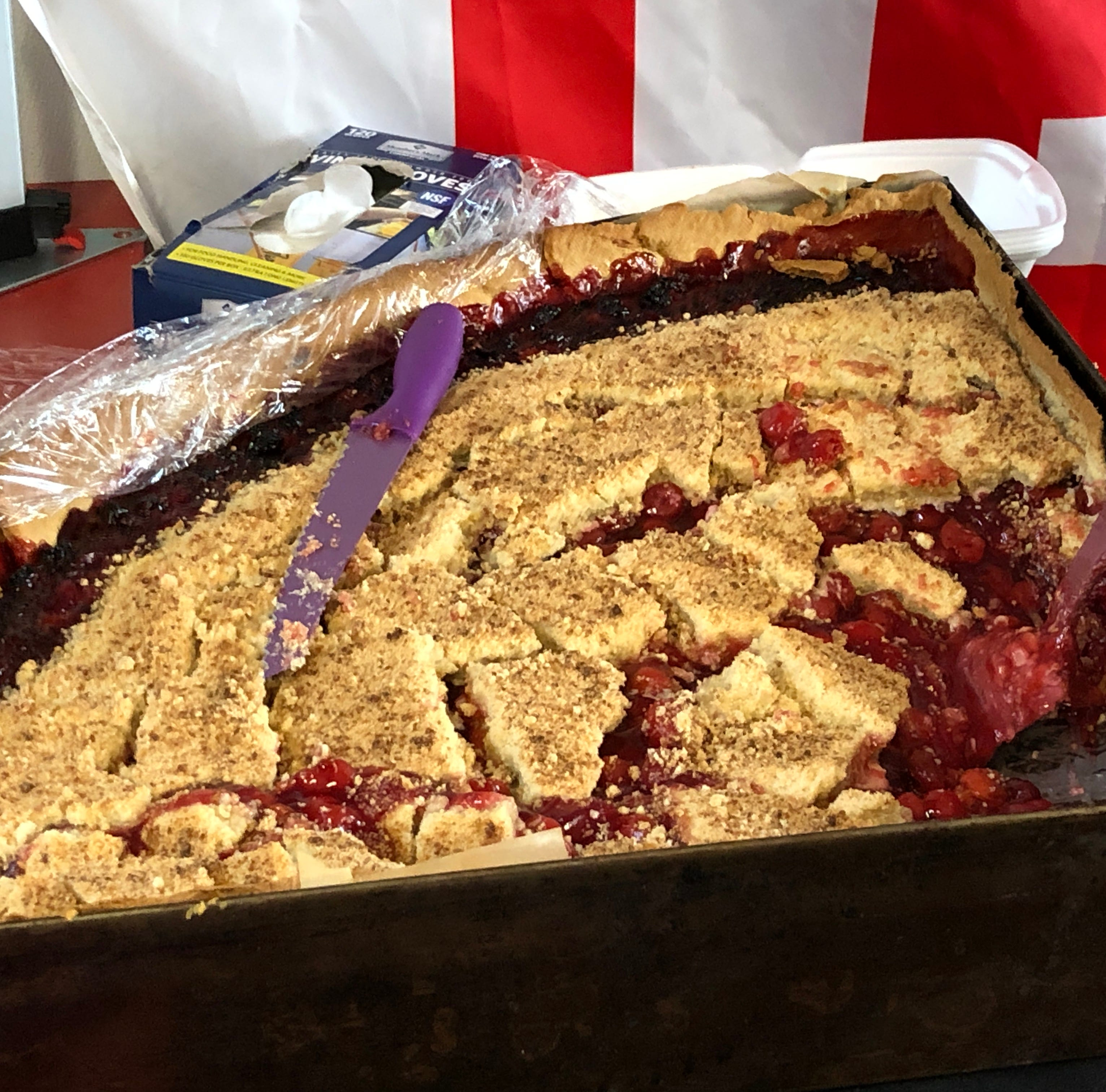 500 pounds of cherry pie sold in Lebanon