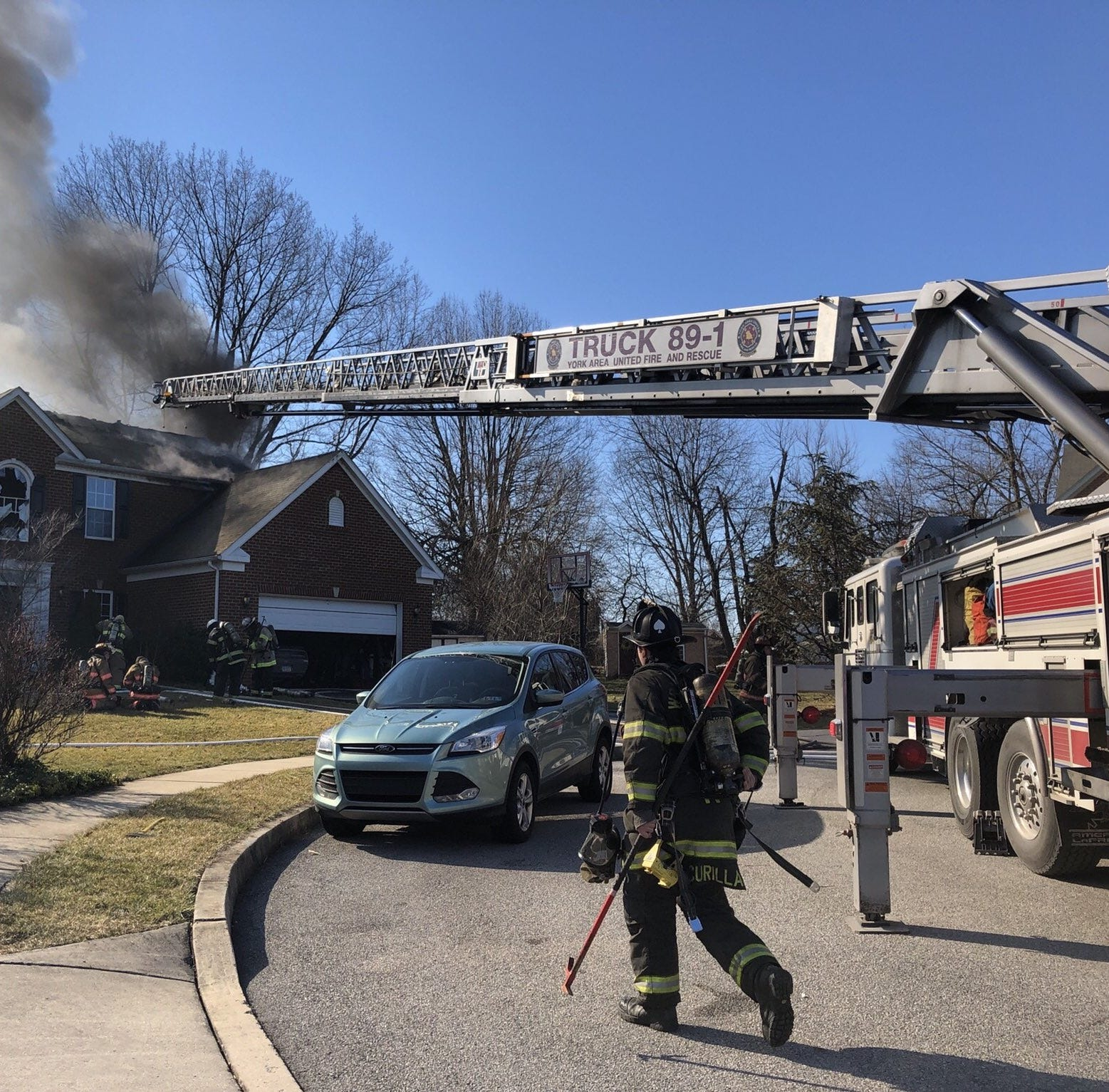 None injured in Springettsbury Township house fire