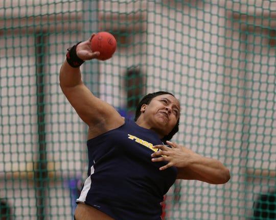 Webster Thomas's Monique Hardy won the Class A shot put event.