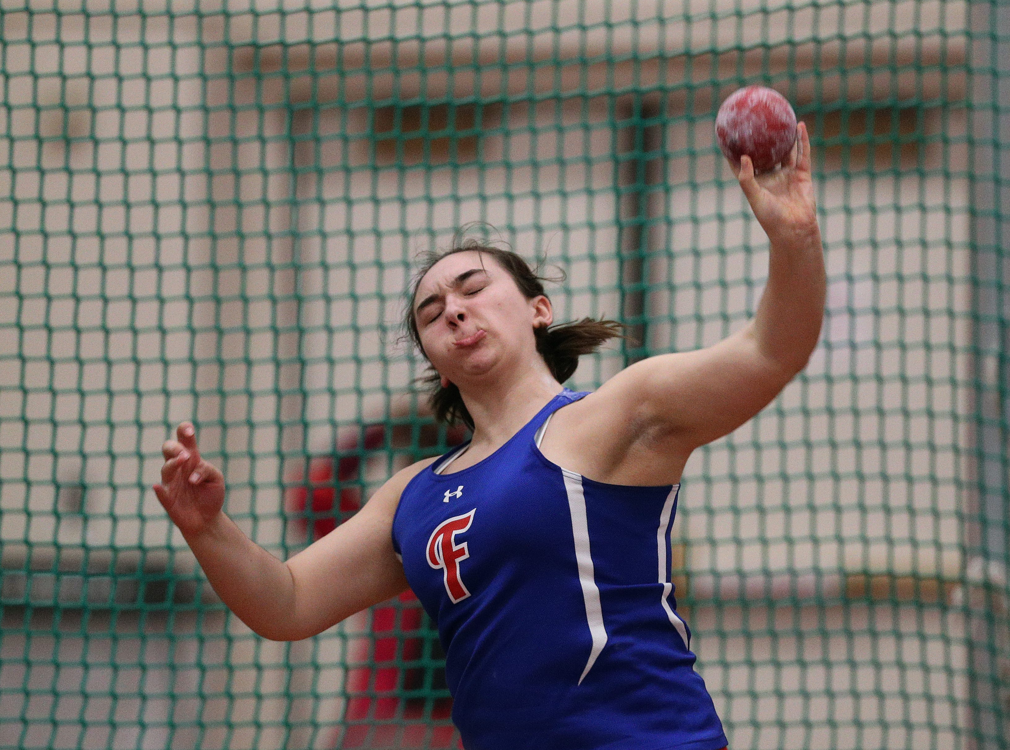 Fairport's Rachel Koonmen finished second in the Class A shot put.