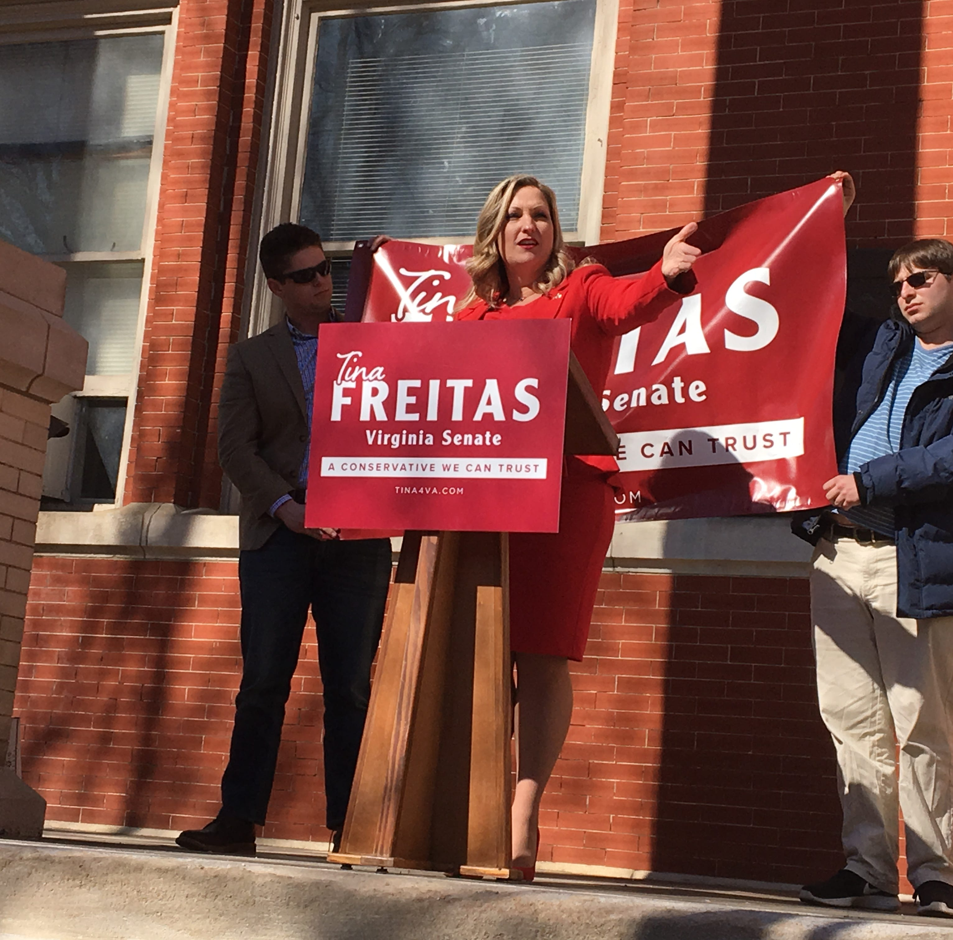 Tina Freitas announces her campaign for the 24th Senate District seat