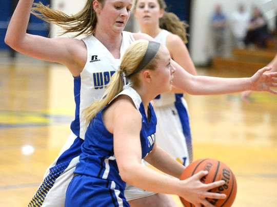 Fort Defiance's Jordan Schulz drives the baseline Friday in the Region 3C quarterfinals.