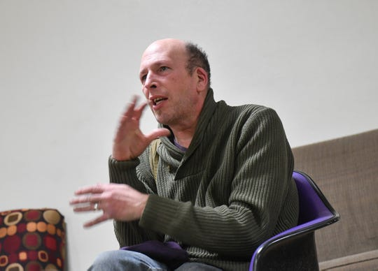 """Director Jeffrey Bleam talks about the production of """"The Curious Incident of the Dog in the Night-Time"""" during an interview at St. Cloud State University."""