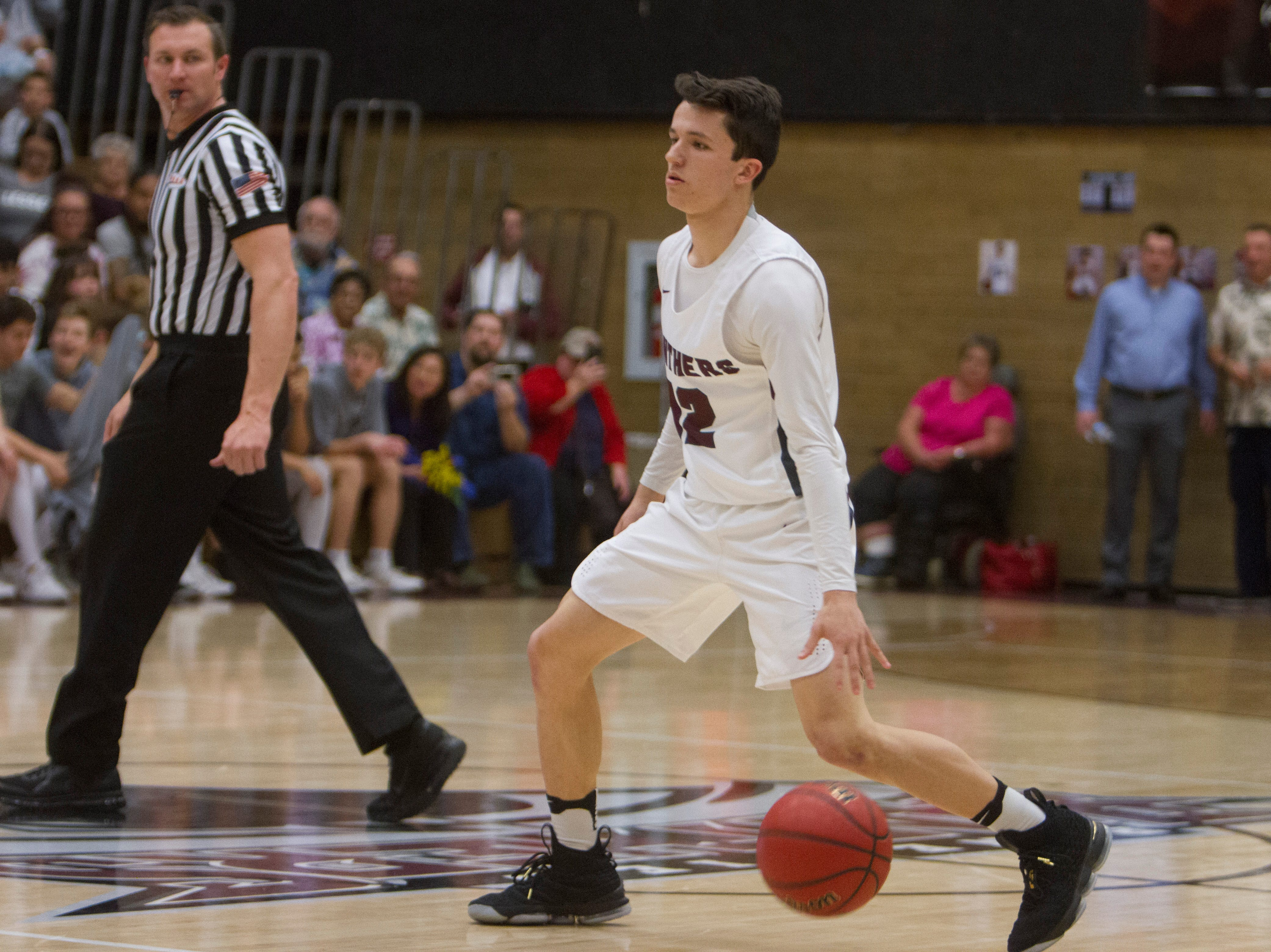 Pine View boys basketball competes against Desert Hills High School Friday, Feb. 15, 2019.