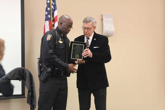 Florida A&M University Police Capt. William Evers honored during Black History Month Program at Florida Public Safety Institute.