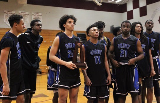Godby's boys basketball team was the District 2-6A runner-up following a 58-47 loss to Godby at Chiles on Feb. 15, 2019.