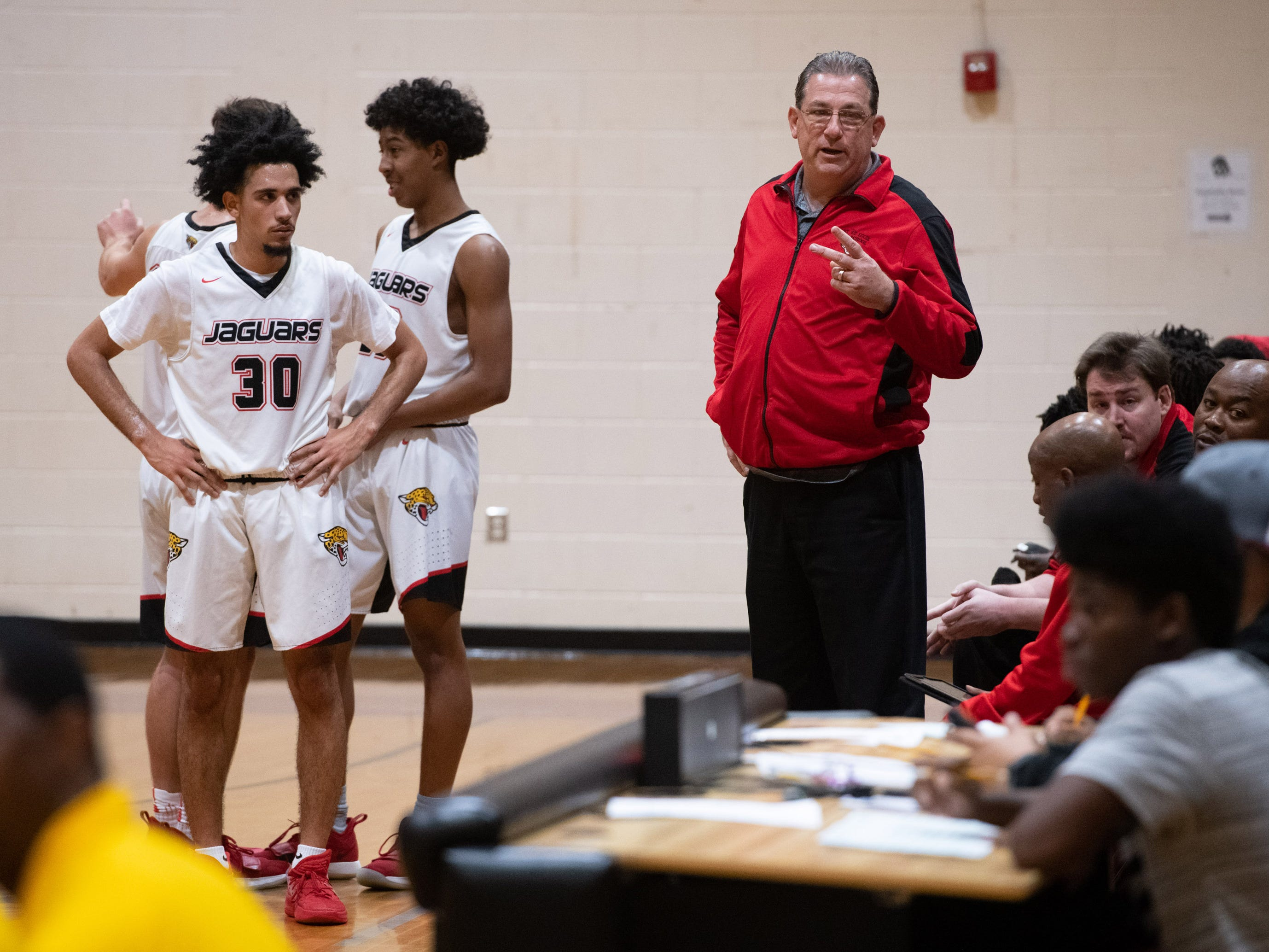The District 15-6A boys basketball district championship game between Port St. Lucie High School and Suncoast Community High School was played at Fort Pierce Westwood High School on Friday, Feb. 15, 2019, in Fort Pierce.