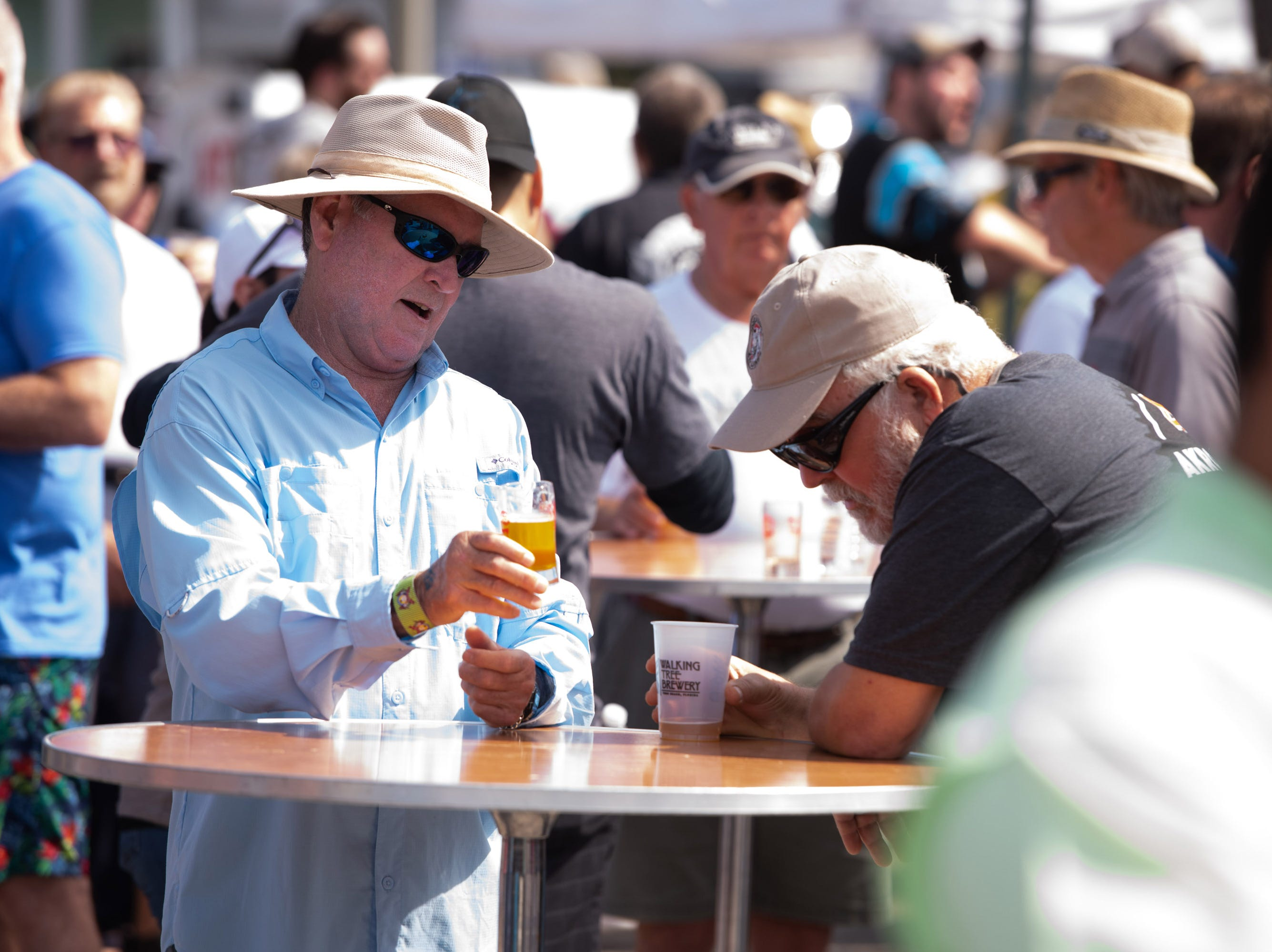 The Florida Craft Brew and Wingfest is held at Royal Palm Pointe on Saturday, Feb. 16, 2019, in Vero Beach.