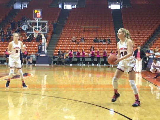 UTEP's Katarina Zec pulls up for a 3-pointer against Southern Miss earlier this season.