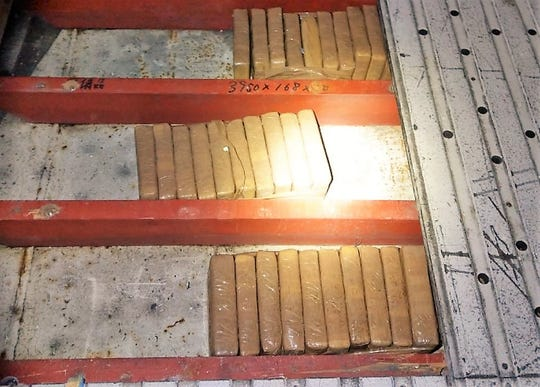 Department of Homeland Security authorities found 221.7 pounds of cocaine hidden inside the floorboards of produce vessels at the Port of Hueneme. On Jan. 22, 80 bundles were found on a ship from Ecuador and on Jan. 28, seven bundles were found on a ship from Guatemala.