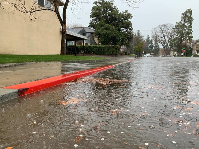 Heavy rain and hail cause havoc in northern Tulare County on Friday.