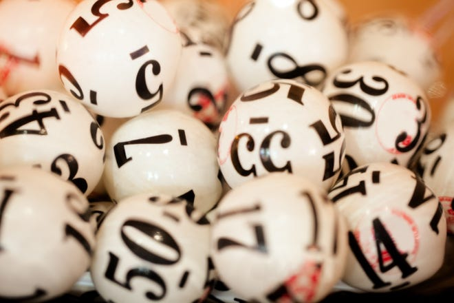 Stock image of lottery balls.