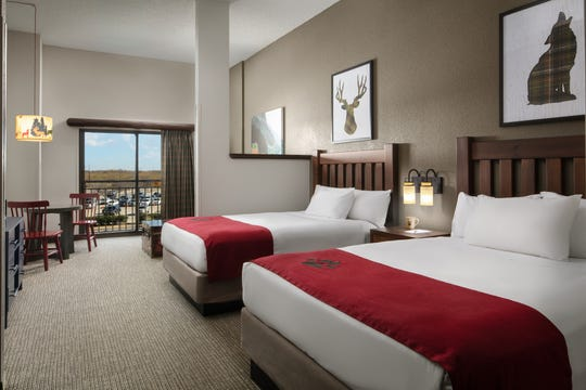 As part of a nearly $11-million renovation, all 605 guest rooms and suites, such as this family suite, received an update at the Great Wolf Lodge in Grapevine.
