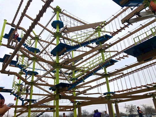 A multi-level ropes course currently outside Great Wolf Lodge in Grapevine might find its way indoors over the next few years as part of a nearly $11-million renovation currently underway.